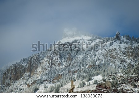 A view of the mountains in Ouray area, Colorado. - stock photo