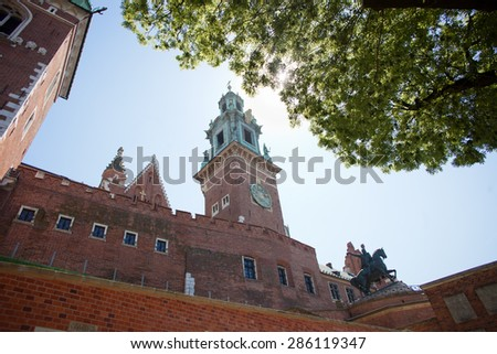 A view of the Wawel cathedral, Krakow, Poland - stock photo