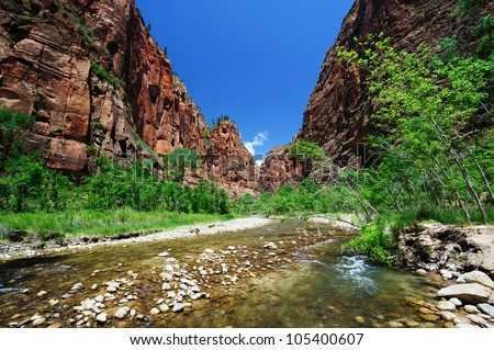 A View OF Zion National Park - stock photo