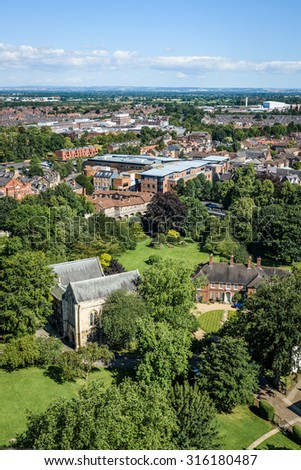 A view over the city of York in England on a summers day - stock photo