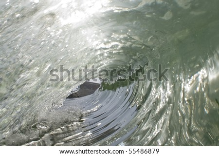 A view through a keyhole - stock photo