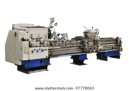 a vintage turning machine - stock photo