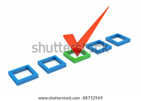 a vote mark, the right choice - stock photo