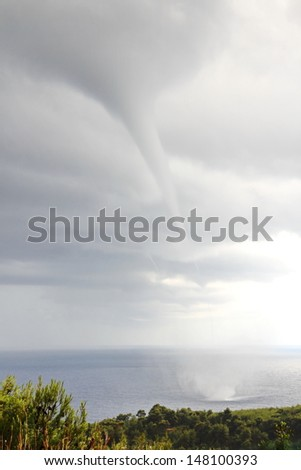 A waterspout - stock photo