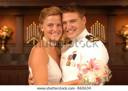 A Wedding Moment - stock photo