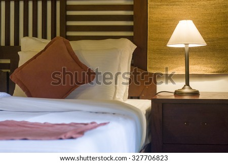 A well decorated Bed Room - stock photo