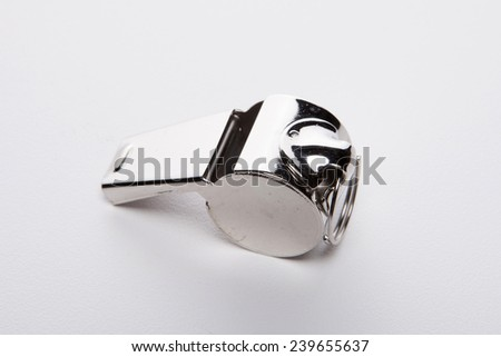 A whistle isolated white at the studio. - stock photo