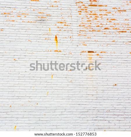 A white brick wall - stock photo