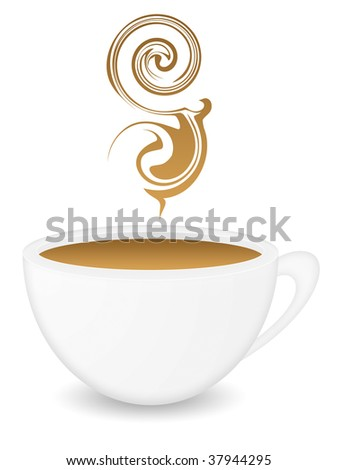 A white coffee cup - stock photo