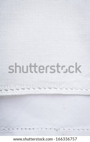 a white tablecloth - stock photo