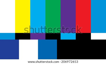 A 16:9 widescreen aspect ratio television screen is off air from broadcasting its shows. - stock photo