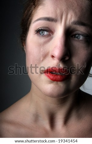 a woman cry - stock photo