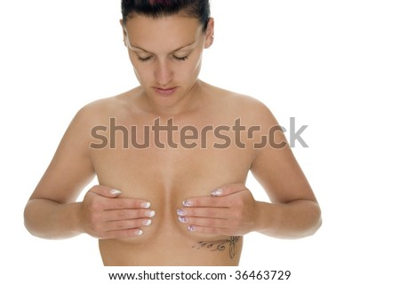 A woman is relaxing - stock photo