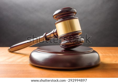 A wooden gavel  - stock photo