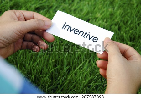 A word that is inventive in the hands of women. - stock photo