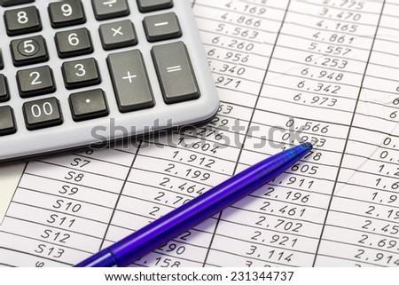 A work desk clerk's office - stock photo