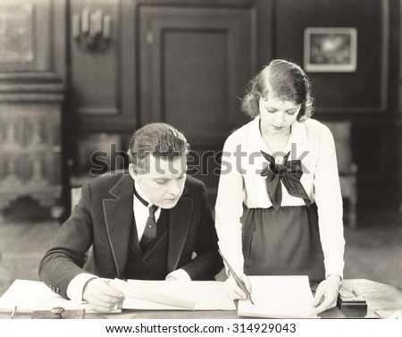 A working relationship - stock photo