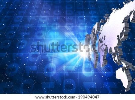 A world of information - stock photo