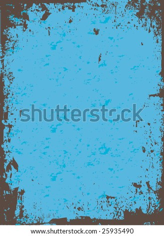 A worn looking grunge background in a blue tone. - stock photo