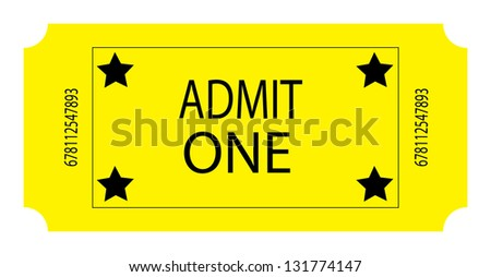 A Yellow Ticket - stock photo
