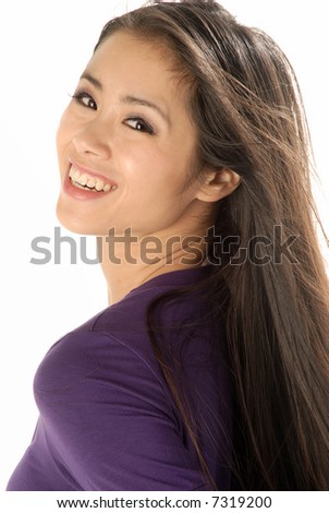 A young asian woman - stock photo