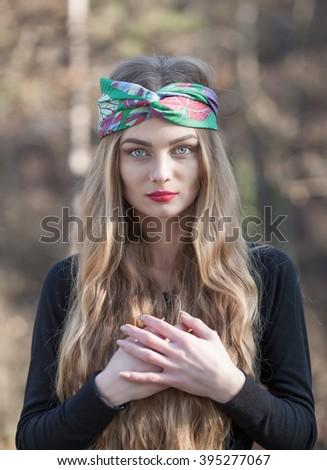 a young beautiful girl - stock photo