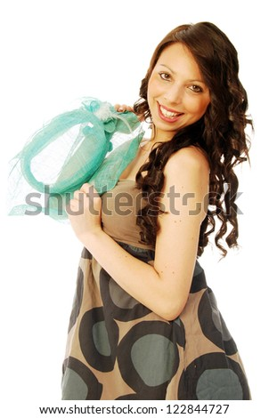 A young brunette all salt and pepper - 092 - stock photo