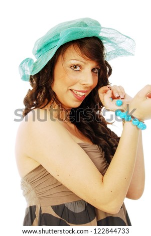 A young brunette all salt and pepper - 101 - stock photo