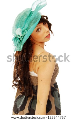 A young brunette all salt and pepper - 093 - stock photo