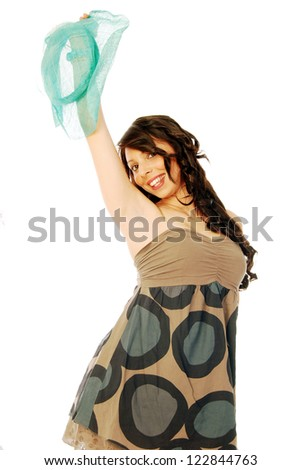 A young brunette all salt and pepper - 091 - stock photo
