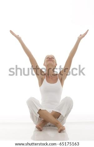 how to sit yoga cross legged