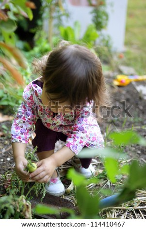 A young gardener - stock photo