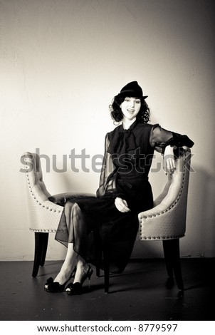 A young model shot in the studio. - stock photo