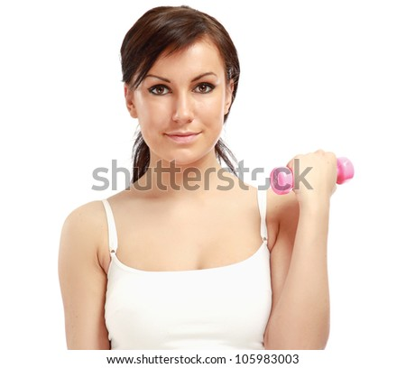 A young woman training - stock photo