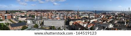 Aarhus Denmark City Panorama - stock photo