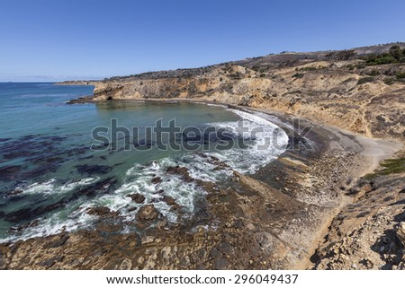 Abalone Cove in the Palos Verdes area near Los Angeles, California. - stock photo