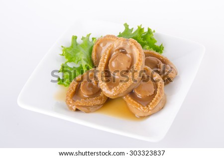 Abalones. Chinese cuisine abalone on the background. - stock photo