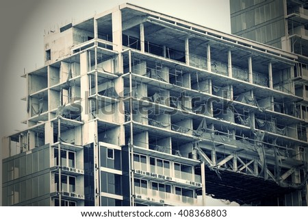 abandon Building construction site work concept - stock photo