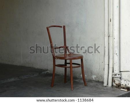 abandon chair - stock photo