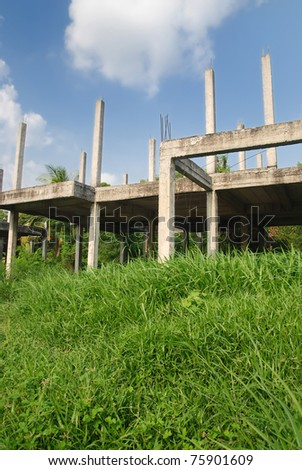 abandon construction - stock photo