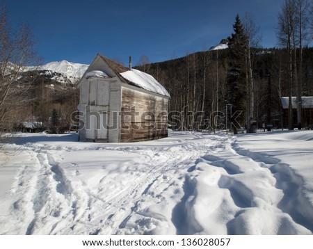 Abandon mining town of Ironton Park, Colorado. - stock photo