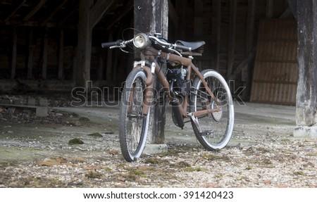 abandoned bike - stock photo