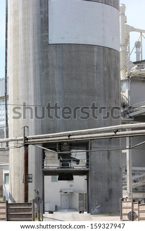 abandoned factory building - stock photo