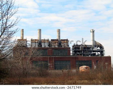 Abandoned Factory - Urban Decay - stock photo