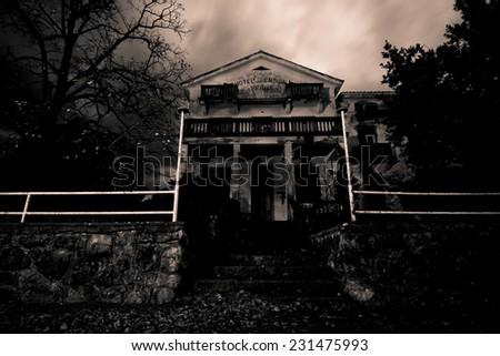 Abandoned horror house - stock photo