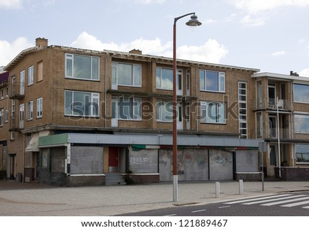 abandoned houses - stock photo