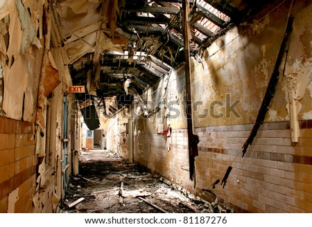 Abandoned Mental Institution - stock photo