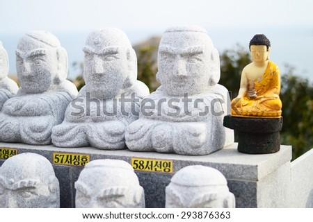 abandoned of buddha - stock photo