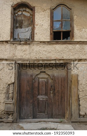 Abandoned Ottoman style Turkish house - stock photo