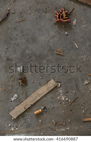 Abandoned Place that Demolition for Real Estate in Bangkok, Thailand - stock photo